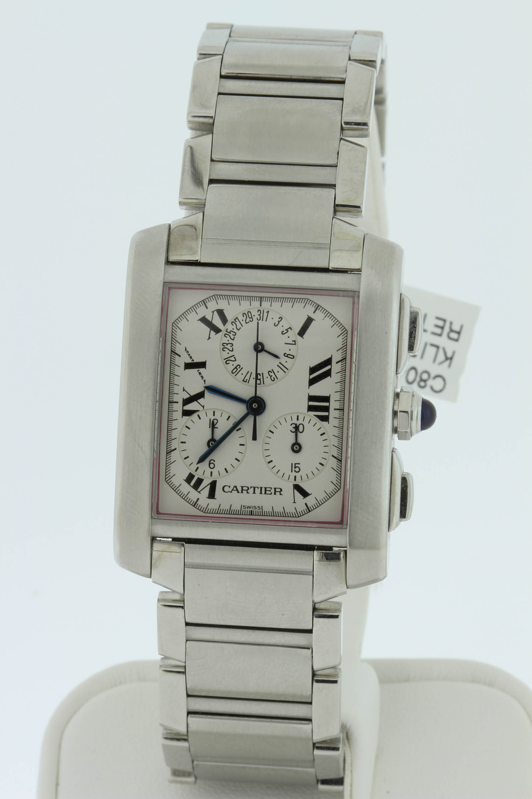 Cartier Stainless Tank Francais Chronograph $3500