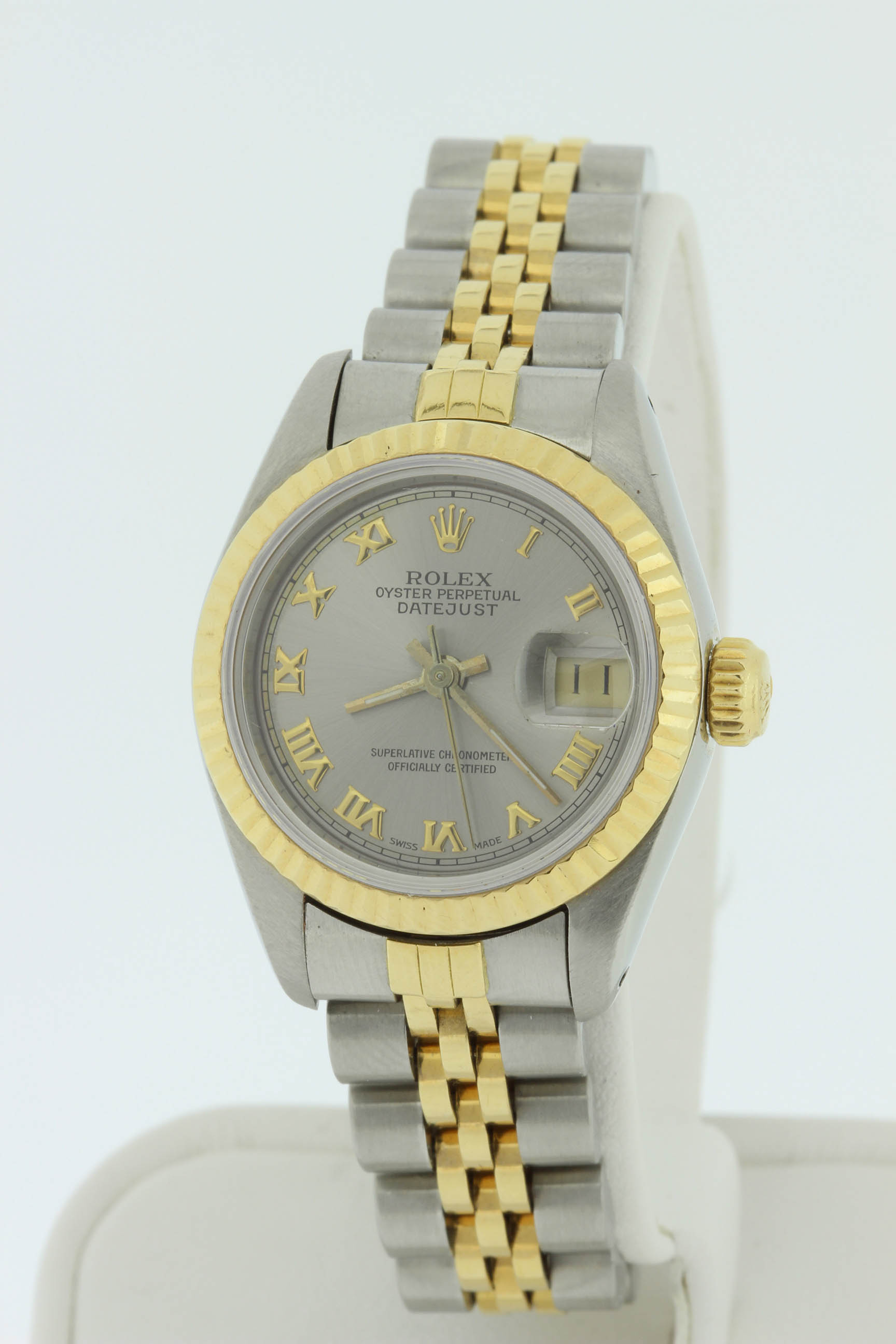 Ladies 18k and Stainless Steel Rolex 26mm DateJust $3500